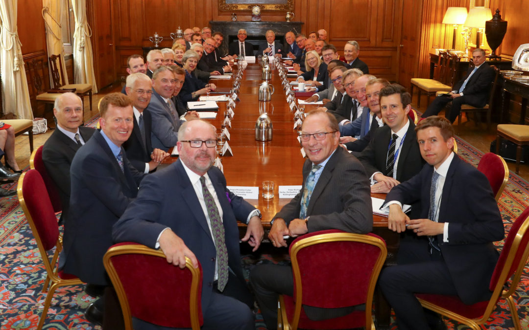 Mike Blackburn co-chairs Prime Minister's first Council of LEP Leaders at Downing Street
